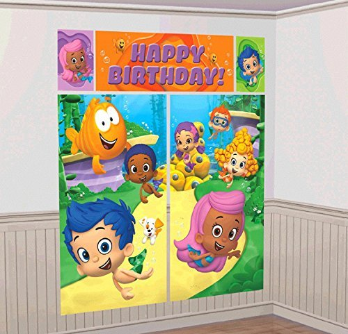 Bubble Guppies Scene Setter Wall Decorations Kit - Kids Birthday and Party Supplies Decoration