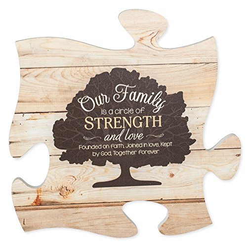 Our Family Tree On Faded Wood Look 12 x 12 Wall Hanging
