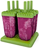 #7: Popsicle Molds Ice Pop Molds Maker Tupperware Quality 6 Pieces BPA Free