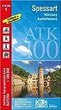 ATK100-1 Spessart (Amtliche Topographische Karte 1:100000): Würzburg, Aschaffenburg (ATK100 Amtliche Topographische Karte 1:100000 Bayern)
