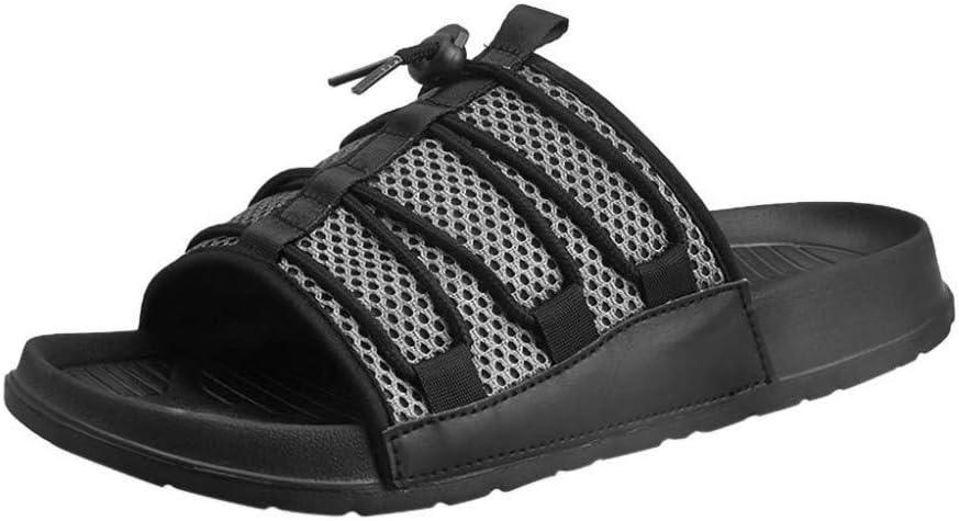 UXITX Zapatillas Chanclas de Verano para Hombres Zapatillas de Playa Antideslizantes, Resistentes al Desgaste, Transpirables, Sandalias y Zapatillas para Exteriores