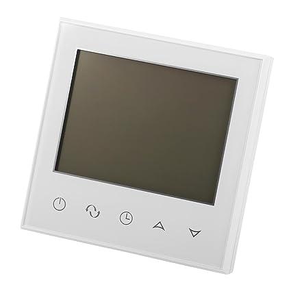 Asixx Termostato Digital, Termostato Digital Programable, con Pantalla Táctil LCD, Termostato de Calefacción