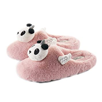 Amazon.com: Women Cute Animal House Slippers Winter Soft Plush Bedroom Indoor Slipper Shoes Girl: Sports & Outdoors