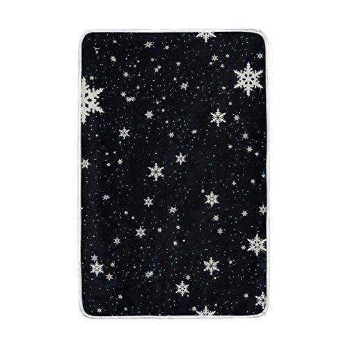 e23fa02079 JSTEL Christmas Snowflakes Lightweight Blanket for Adults Men Women Girls  Kids Girls Boys Teens Bed Extra
