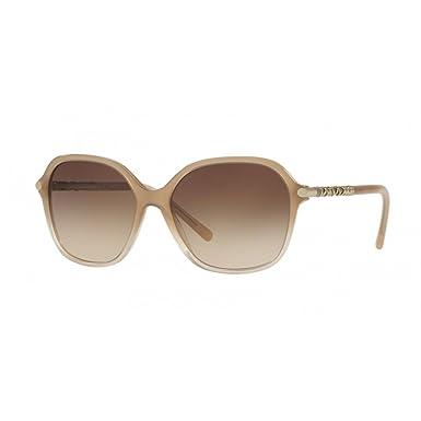 BURBERRY Unisex Sonnenbrille BE4228, Beige (Gestell: Beige-Verlauf, Gläser: Braun-Verlauf 335413), Large (Herstellergröße: 57)