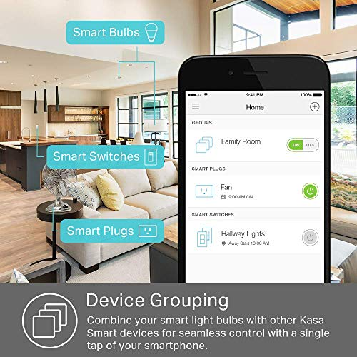 TP-Link Kasa Smart KB100 Wi-Fi LED Bulb, 50W, Dimamable White