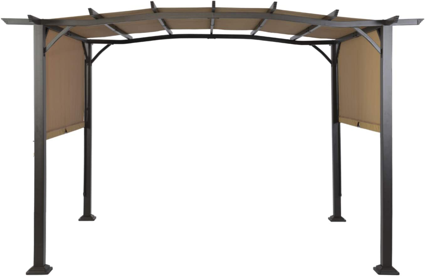TJ: Carpa de pérgola para Patio o Exterior, Marco de Acero, pérgola retráctil, toldo para Patio, Color Beige: Amazon.es: Jardín