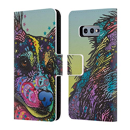 (Official Dean Russo Libby Dogs 4 Leather Book Wallet Case Cover for Samsung Galaxy S10e)
