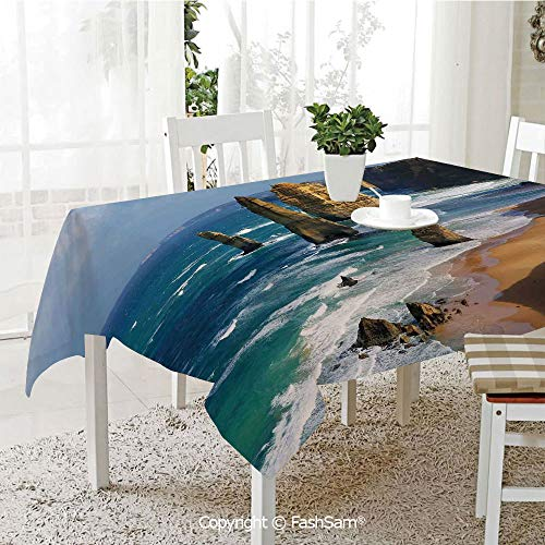 AmaUncle Party Decorations Tablecloth 12 Apostles in Australia Rock Face Lookout by The Sea Sightseeing Panoramic Picture Table Protectors for Family Dinners (W55 xL72) -