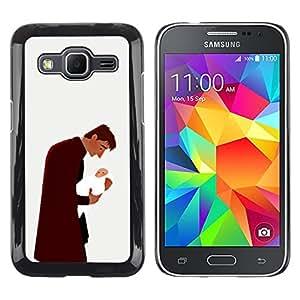 Shell-Star Arte & diseño plástico duro Fundas Cover Cubre Hard Case Cover para Samsung Galaxy Core Prime / SM-G360 ( Man Baby Father Child Family Love Art )