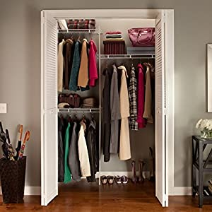 CLOSETMAID 164000 5u0027 White Closet Organ Kit