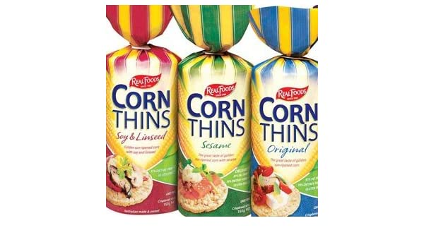 Real Foods Corn Thins Bbq 58oz Pack Of 6 Amazon Grocery