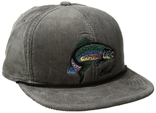 Coal Men's The The Wilderness Hat Adjustable Corduroy Snapback Cap, Grey/Fish, One - Corduroy Mens Hat