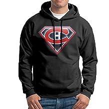 SARAH Men's New Montreal Canadiens Superman Nhl Logo Hoodie