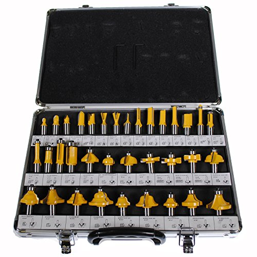 (Shop4Omni NEW 35 PIECE CARBIDE ROUTER BIT TOOLS SET W/ CASE (1/2