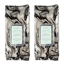 Live Green – 2 Pack (60 Count Each) Dead Sea Mineral Facial Cleansing Wipes