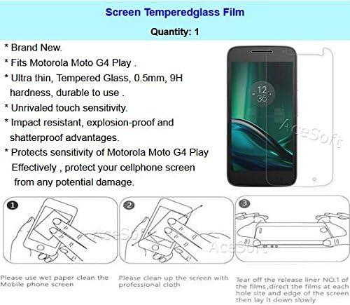 Moto G4 Play XT1609 Case Premium Tempered Glass Screen Protector Film Ultra-Thin Heavy-Duty TPU Full Edge Grip Back Bumper Protective Case for Motorola Moto G4 Play XT1609 Phone