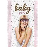 Big Dot of Happiness Hello Little One - Pink and Gold - Girl Baby Shower Photo Booth Backdrop - 36'' x 60''