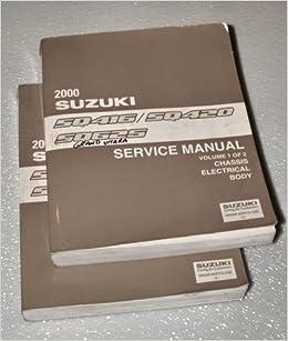 2000 suzuki vitara grand vitara factory service manuals sq416 2000 suzuki vitara grand vitara factory service manuals sq416 sq420 sq625 series 2 volume set suzuki motor corporation amazon books fandeluxe Image collections