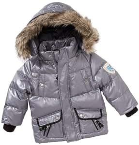 Geox - Abrigo para niño gris de 100% poliéster, talla: 98cm (3-4 años)