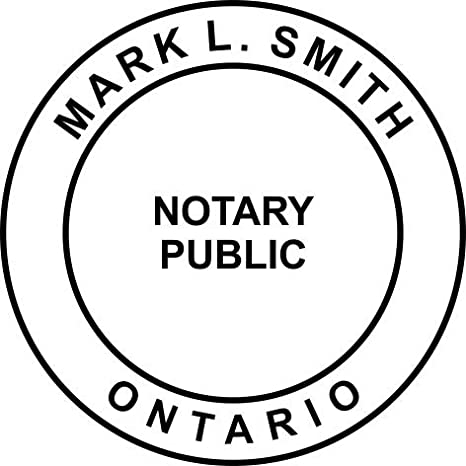 Amazon Com Ontario Canada Notary Seal Stamp Office Products