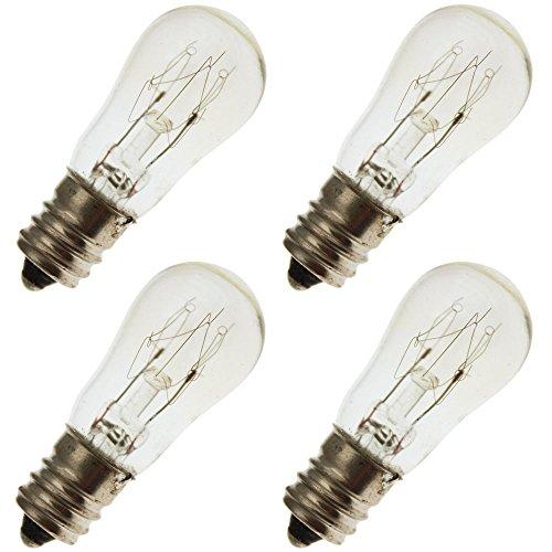 Industrial Performance 10S6/10 230V, 10 Watt, S6, Candelabra Screw (E12) Base Light Bulb (4 Bulbs) ()