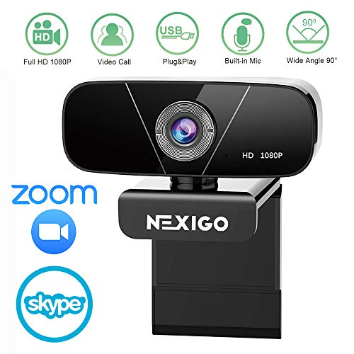 🥇 2020 NexiGo 1080P HD Webcam with Built-in Noise Reduction Microphone