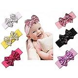 Best Sparkle Dress For Babies - Tacobear 6pcs Baby Sequins Headbands Glitter Bow Soft Review