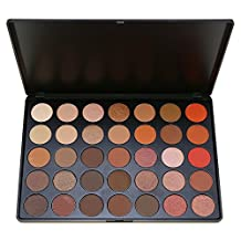 Eye Shadow Makeup Palette 35 Color Nature Warm Smoky Colour, SEPROFE Matte Shimmer Neutral Tone Cosmetics Pallet, Pigment Metallic Luminous Beauty Tool Kit, Highlighter Powder Bases Primer (35O)