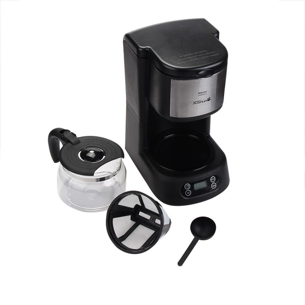 5-Cup Home Coffee Maker Keep Warm Easy Cleaning Grip Handle Self Brew Timer