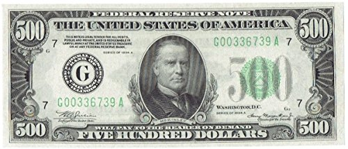 1934 A $500 Federal Reserve Note