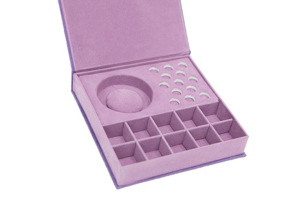 Caja de almacenaje lila para pulsera y cuentas Pandora etc