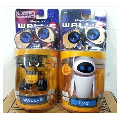 Disney Pixar Wall-E and Eee-Vah EVE Set of 2pcs Mini Action Figure New in Box from Unbranded