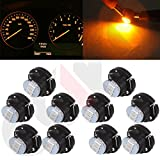cciyu 10 Pack T5 5050 SMD Neo Wedge LED Light Climate Heater Control Lamp Bulbs (warm white)