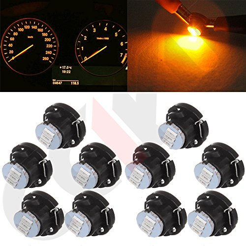 Ford Climate Control (cciyu 10 Pack T5 5050 SMD Neo Wedge LED Light Climate Heater Control Lamp Bulbs (warm white))