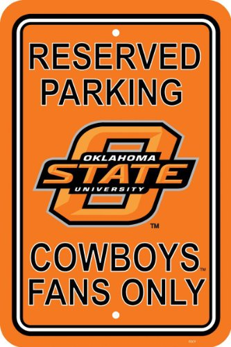 NCAA Oklahoma State Cowboys 12-by-18 inch Plastic Parking Sign (Cowboys College Basketball)