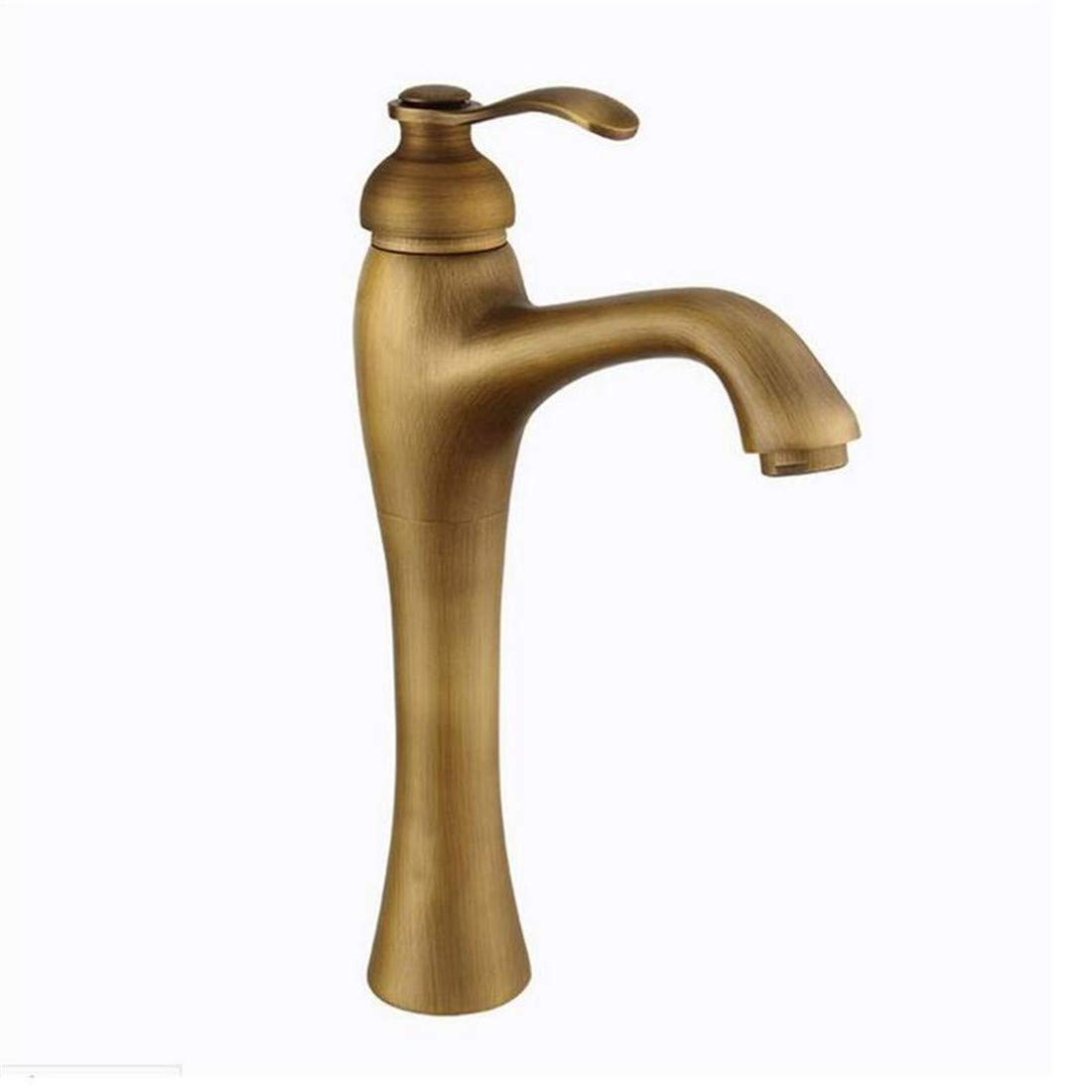 Retro Hot and Cold Water Brass Kitchen Antique Basin Faucet Hot and Cold Water Tap Bathroom Sink Faucets
