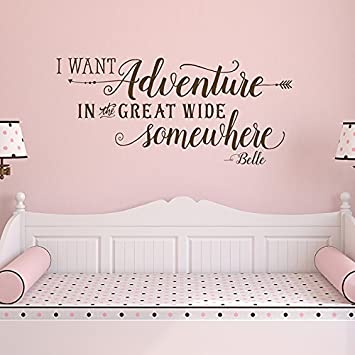 Amazoncom I Want Adventure In The Great Wide Somewhere Decal