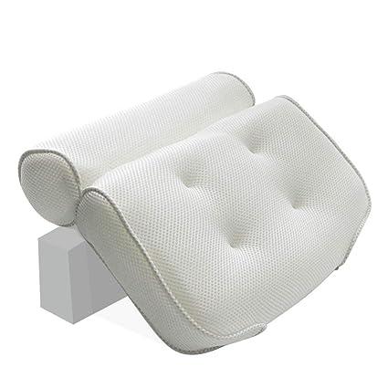 Almohada Antideslizante Cuello Baño Cojines Soporte 3D ...