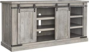 Signature Design by Ashley Carynhurst Large TV Stand Whitewash