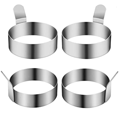 Egg Ring, 3 Inch Stainless Steel Omelet Mold Cooking Non Stick Pancake Ring Metal Kitchen Cooking Egg Ring, 3 Inch Stainless Steel Omelet Mold Cooking Non Stick Pancake Ring Metal Kitchen Cooking Tool