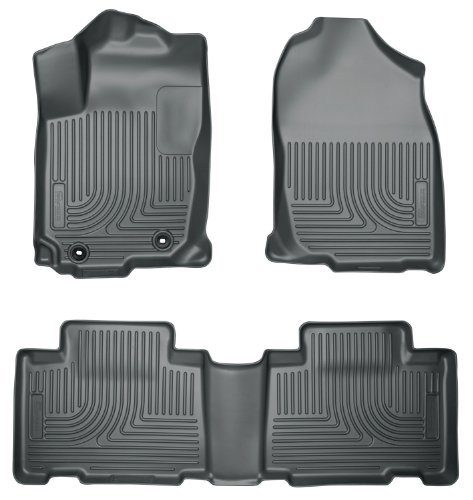 (Husky Liners 98972 WeatherBeater Grey Front and 2nd Seat Floor Liner by Husky Liners)