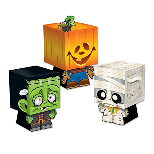 Beistle 01198 Goody Ghoulies Favor Boxes, 5 by 3-1/4-Inch, Multicolor -