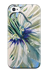 Premium Tpu Exploded Flower Cover Skin For Iphone 4/4s