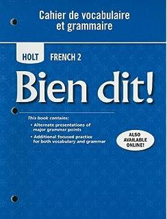 Amazon.com: Bien dit!: Cahier de vocabulaire et grammaire Level 1A ...