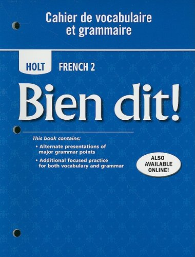 - Bien dit!: Cahier de vocabulaire et grammaire Level 2