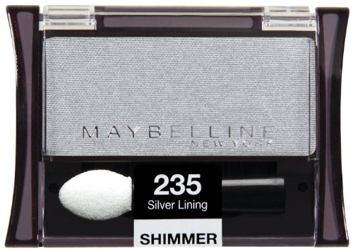 - (3 Pack) Maybelline New York Expert Wear Eyeshadow Singles, Silver Lining 235 Shimmer, 0.09 Ounce