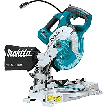 Makita XSL05Z 18V LXT Lithium-Ion Brushless Cordless 6-1/2 COMPACT Dual-Bevel Compound Miter Saw with Laser, TOOL Only