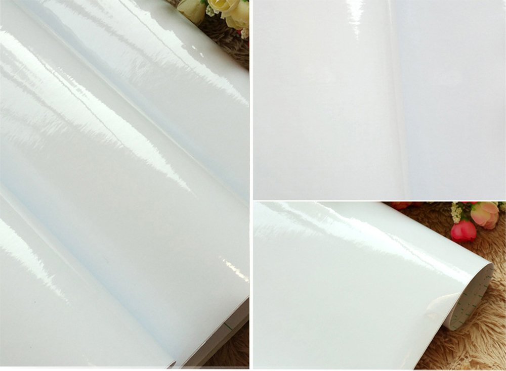 Details About Waterproof High Gloss Glittery Vinyl Pearl White Self Adhesive Contact Paper For