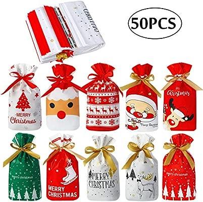 Bolsa de Dulces de Navidad, 50 Piezas Bolsas de Galleta ...